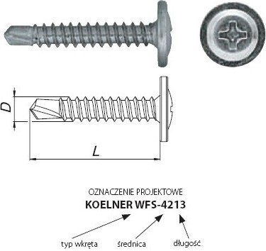 Opinie o Koelner Wkret Ocynkowany z Łbem Podkładkowym do metalu 4,2x19mm 500szt WFS-4219