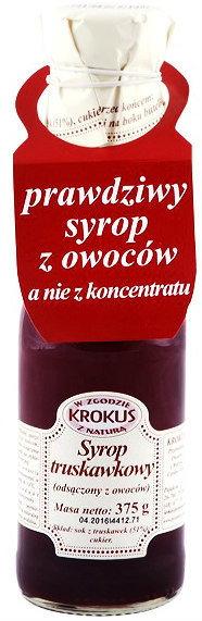 Krokus Syrop Truskawkowy Sok Truskawki 375g