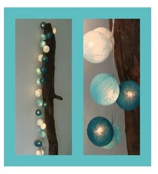 Cotton Ball Lights Kolorowe kulki kompozycja 10 kul - Gentle Breeze