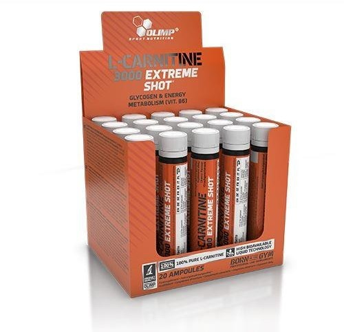 Olimp Laboratories L-Carnitine 3000 Extreme Shot Smak Pomarańczowy, 1 Ampułka 25Ml (3131321)
