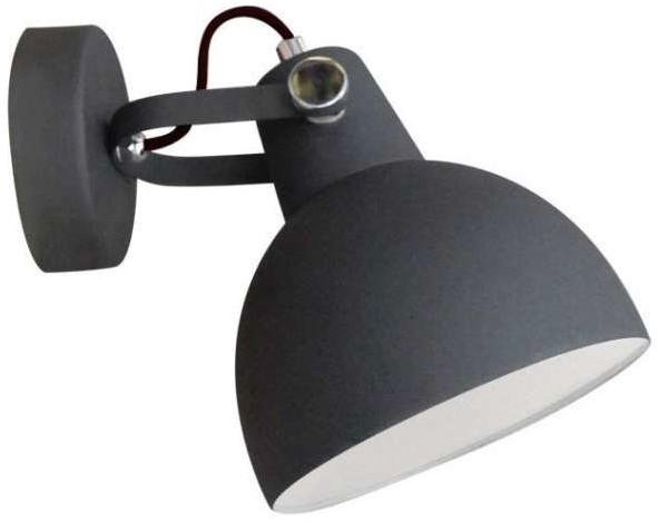 Zuma Line Kinkiet LAMPA ścienna CANDE TS-140605W-BK metalowa OPRAWA regulowana w stylu skandynawskim czarna