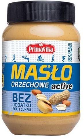 PRIMAVIKA Masło Orzechowe - Active Bez Soli I Cukru - 470G