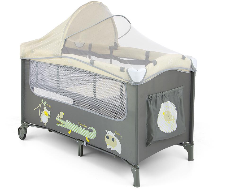 Milly Mally MIRAGE DELUXE BEIGE łóżeczko składane z płozami 38826