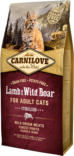 Carnilove Sterilised Lamb & Wild Boar 2 kg