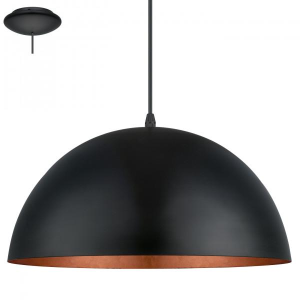 Eglo LAMPA wisząca GAETANO 1 94937 metalowa OPRAWA zwis kopuła miedź czarna