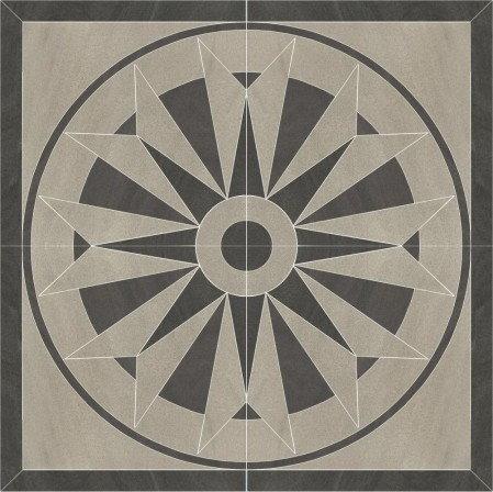 Paradyż Arkesia Dekor 89,6x89,6 Szary Grys Rozeta