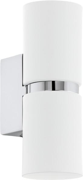 Eglo Kinkiet LAMPA ścienna PASSA 95368 metalowa OPRAWA LED 6,6W tuba chrom biała