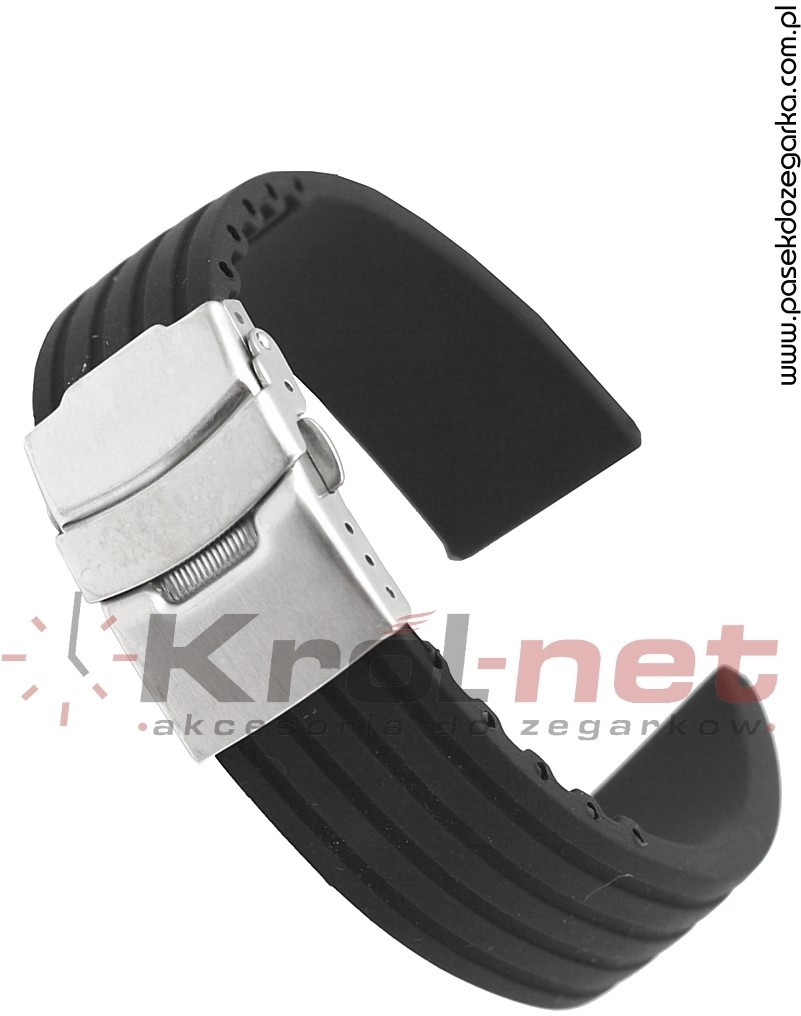 Pasek RP058/20 - czarny, silikonowy