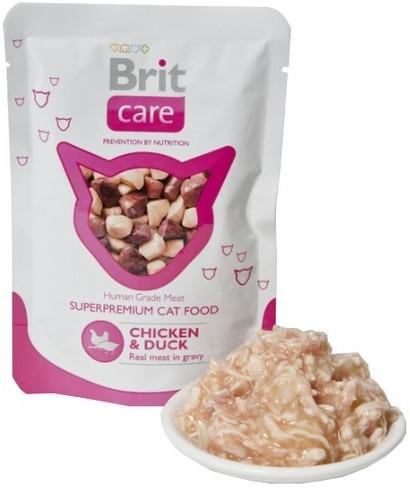 Brit Care Cat Pouch Chicken & Duck - Kurczak I Kaczka Saszetka 80G