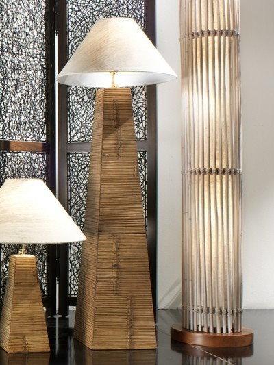 Bortoli Lampa piramida z bambusa prasowanego Essential - 150 cm