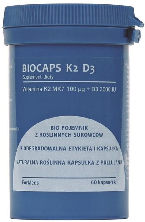 Formeds Witamina K2 MK7 + D3 Formeds BIOCAPS K2 D3 60 kapsułek 354