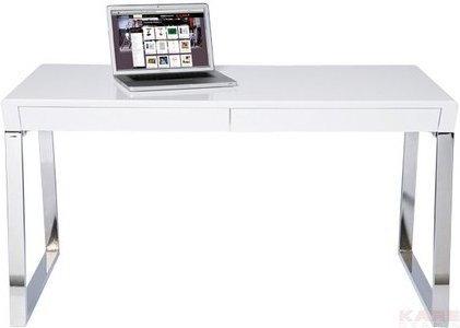 Kare Design Retro Design biurko białe, lakierowane na wysoki połysk, Solution 76