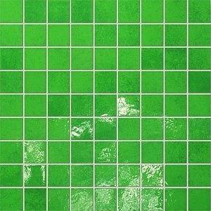 Tubądzin Majolika Mozaika 30,1x30,1 Zielony 14 Poler