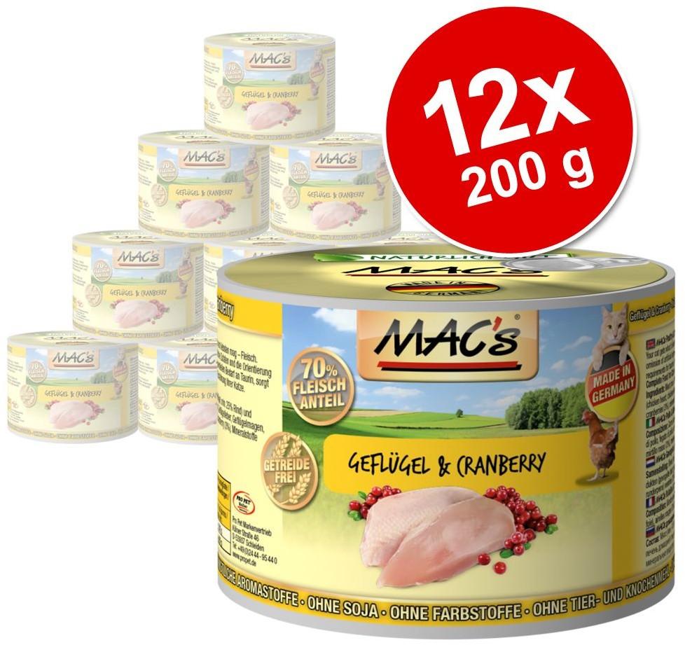 MACs Megapakiet MAC´s Cat karma dla kota 24 x 200 g Pakiet drobiowo-rybny
