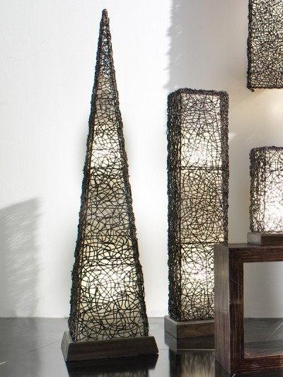 Bortoli Lampa piramida z croco-rattanu Croco - 160 cm