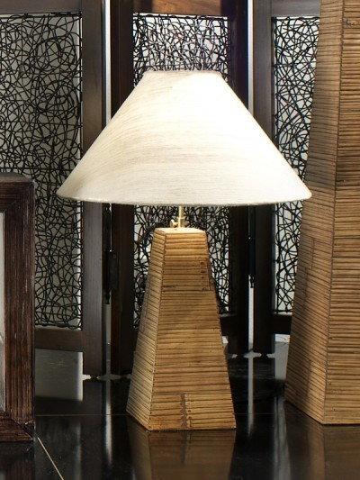 Bortoli Lampa piramida z bambusa prasowanego Essential - 75 cm