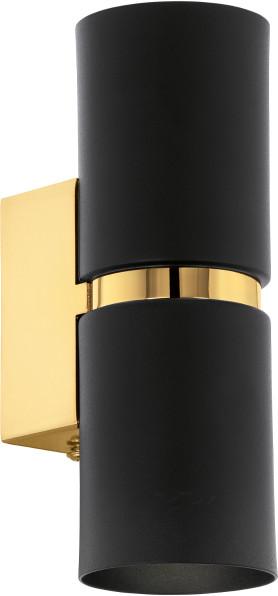 Eglo Kinkiet LAMPA ścienna PASSA 95364 metalowa OPRAWA LED 6,6W tuba złote czarna