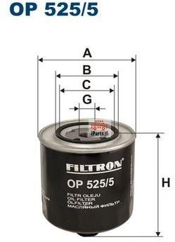 Filtron Filtr oleju OP525/5