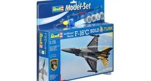Revell Myśliwiec wielozadaniowy F-16 C Solo Türk (z farbami) 64844