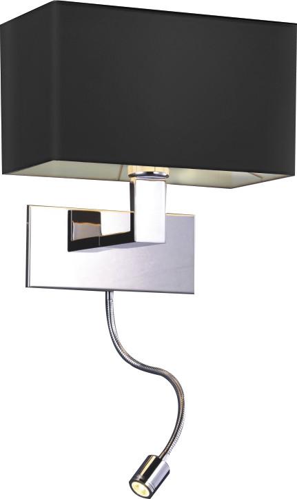 Azzardo Kinkiet MARTENS WALL LED BLACK MB2251-B-LED-R BK