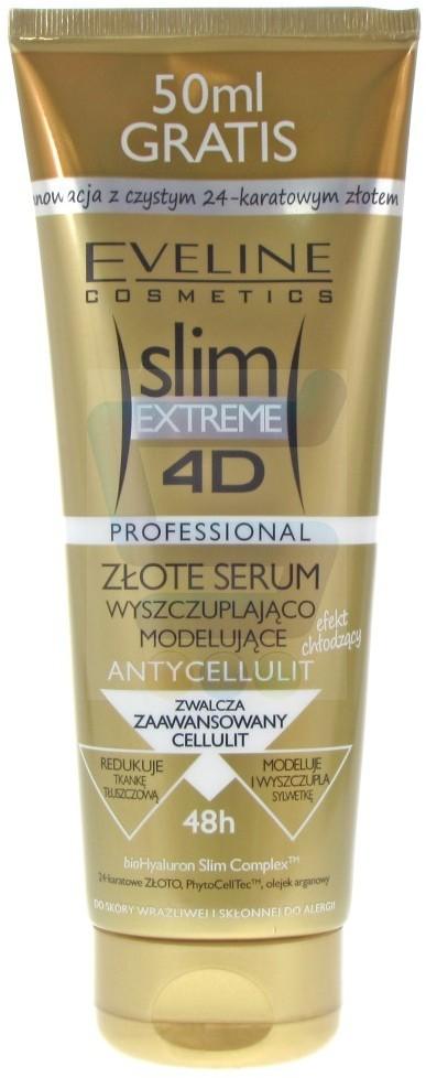 Eveline Slim Extreme 4D Złote serum wyszczuplająco-modelujące 200 ml + 50 ml