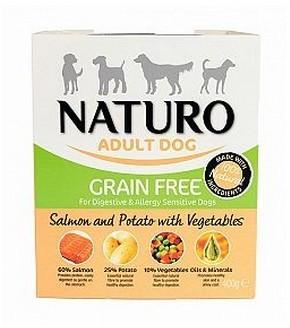 Naturo Grain Free Łosoś, Ziemniaki I Warzywa 400G