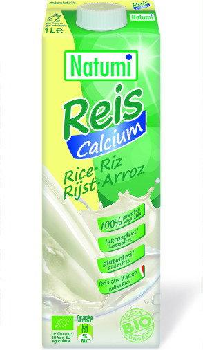 Natumi Napój ryżowy z wapniem z alg morskich BIO 1L