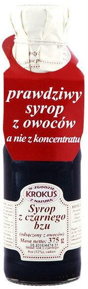 Krokus Syrop z Czarnego Bzu Sok Bez Czarny 375g