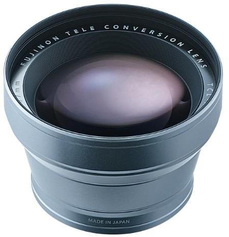 Fujifilm Obiektyw Tele, TCL-X100, w kolorze srebrnym TCL-X100 Tele Conversion Lens Silver