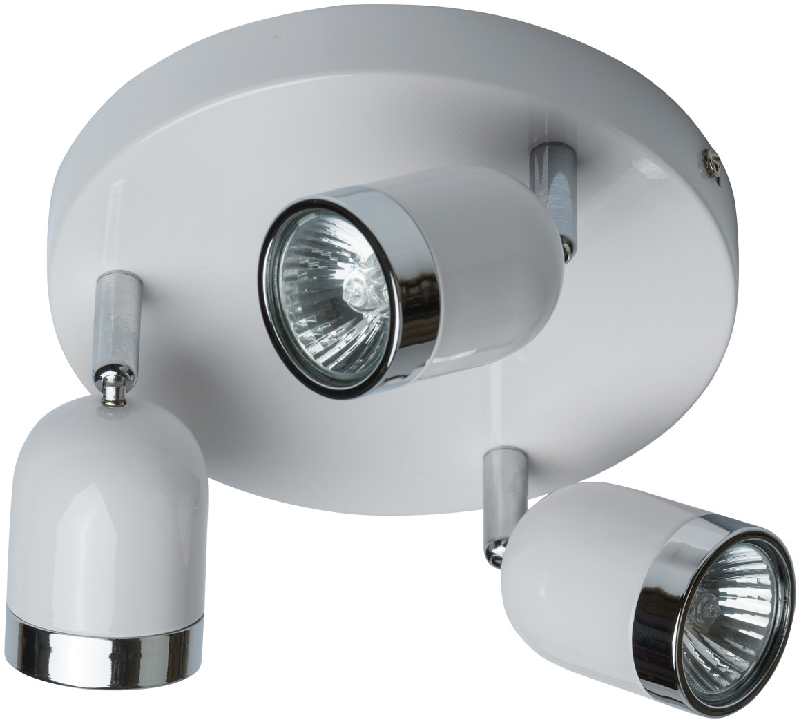 MW-LIGHT Potrójny spot sufitowy regulowany, biały MW-LIGHT Techno 546020703