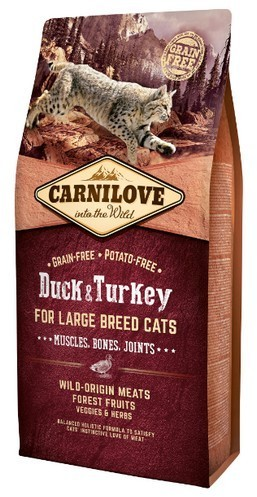 Carnilove Cat Duck & Turkey For Large Breed 6 kg