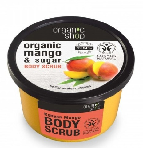 Organic Shop Scrub do ciała kenijskie mango BDIH 250 ml SIBERICA