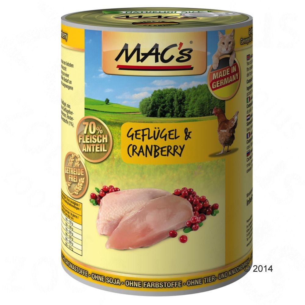 MACs Megapakiet MAC´s Cat karma dla kota 24 x 400 g Pakiet mięsno-rybny