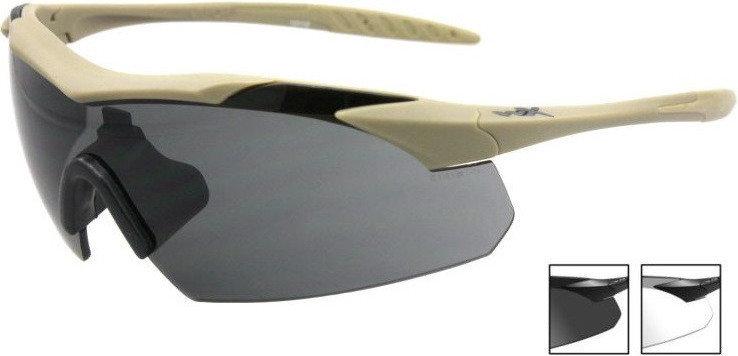 Opinie o Wiley Okulary X Vapor Grey/Clear - Tan Frame (WLX-3511) G