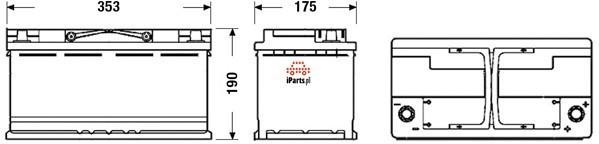 Exide START STOP AGM EK950 - 95Ah 850A P+