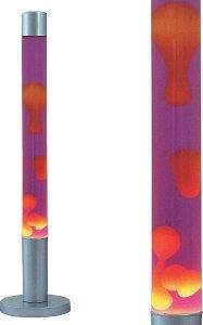 Rabalux Ozdobna OPRAWA Podłogowa LAMPA lawa DOVCE 4112 IP20 Pomarańczowy fioletowy srebrny