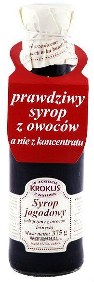 Krokus Syrop Jagodowy Sok Jagody 375g