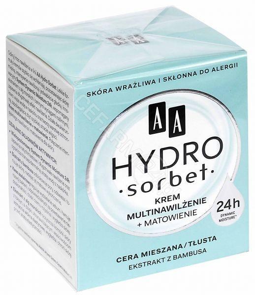 Oceanic Hydro sorbet krem multinawilżenie + matowienie do cery tłustej i mieszanej 50 ml
