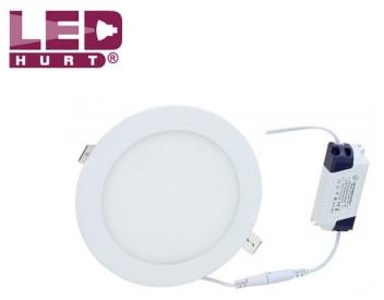 S-LED Panel LED S-L 12W + zasilacz, okrągły, barwa biała ciepła 2601