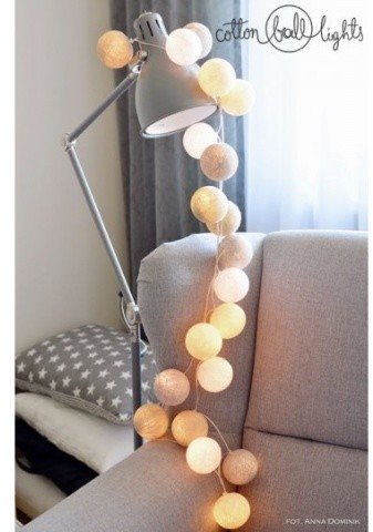 Cotton Ball Lights Kolorowe kulki LED kompozycja - Pretty Pleasure