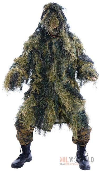 Mil-Tec Strój Maskujący Maskowanie Ghillie Suit Parka Woodland