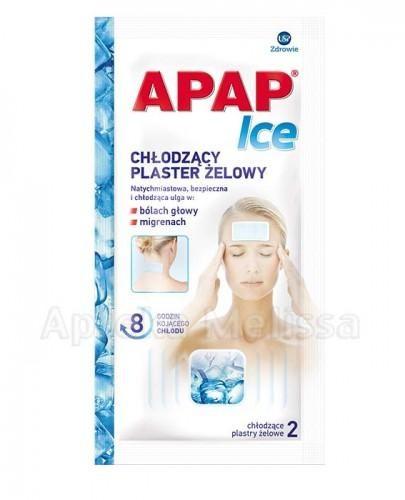 USP Zdrowie Sp. z o.o. USP Zdrowie Sp z o.o APAP ICE Chłodzące plastry żelowe 2 szt 9055022