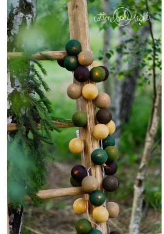 Cotton Ball Lights Kolorowe kulki kompozycja - Woodland Treasures