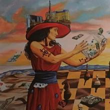 Kartka2 kobieta Częstochowa -  Motto zmiennym jest.Dziś motto wymiotoło
