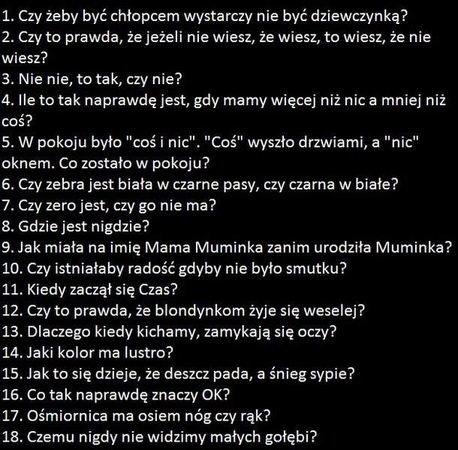 Czy odpowiesz na te śmieszne pytania xD ? - Zapytaj.onet.pl