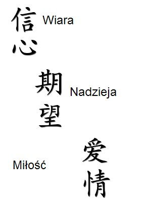 Poda Mi Ktoś Chińskie Znakisymbole Siły I Nadziei