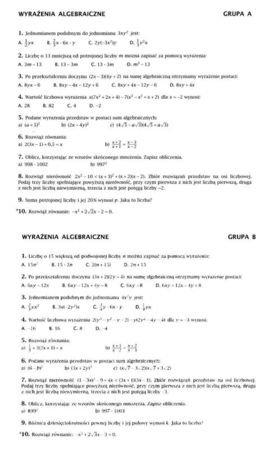 matematyka klasa 7 nowa era ćwiczenia odpowiedzi
