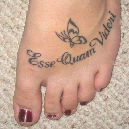 Tatuaż Na Stopie In Czy Out Zapytajonetpl