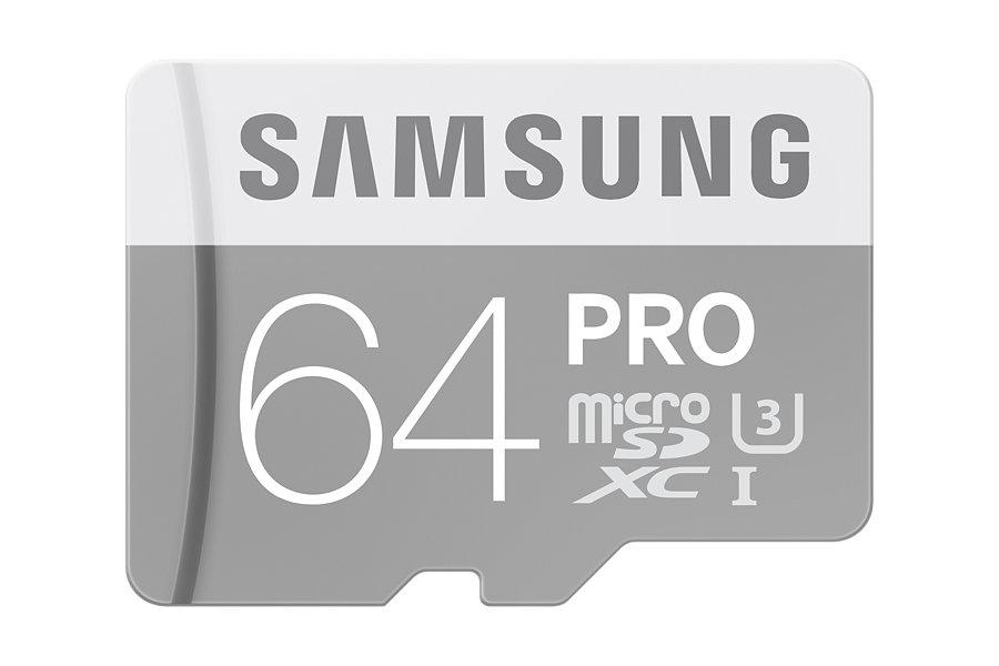 SAMSUNG PRO MICROSDXC 64GB | Szybkość Zapisu: 80 MB/s, Szybkość Odczytu: 90 MB/s |