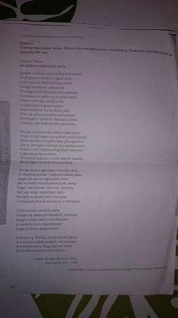 Zinterpretuj Utwór Czesława Milosza Do Tadeusza Różewicza